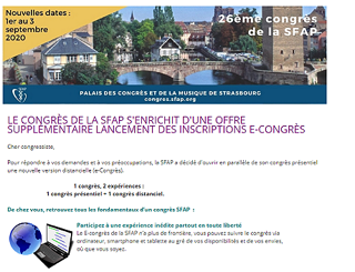 Offre Congrès Sfap Strasbourg